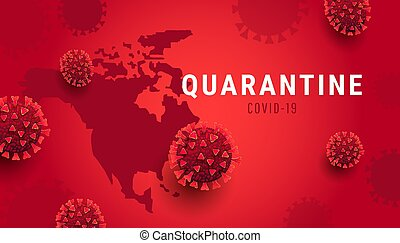 Global spread of deadly coronavirus epidemic in all countries concept. Covid-19 quarantine design concept