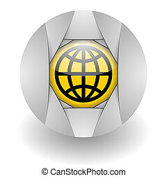 global steel glosssy icon