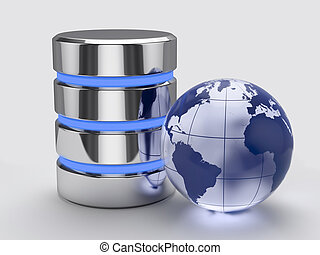 Global storage concept - 3d render of global storage concept