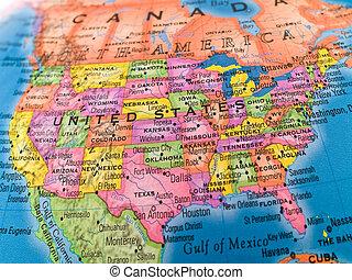 Global Studies - United States - A macro closeup of a ...