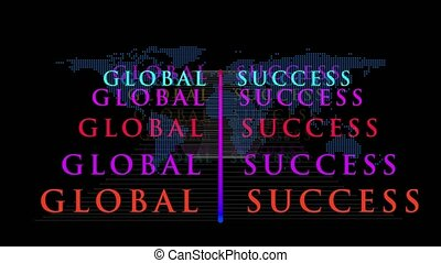 global success  concept motion graphics