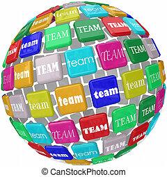 Global Team Word Tiles International Business Group Reach Workin