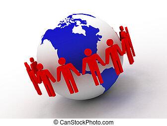 global teamwork concept