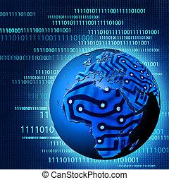 global, technologique, progress., résumé, arrière-plans