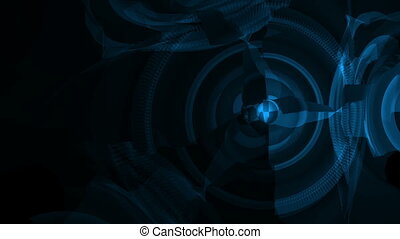 Global technology abstract background