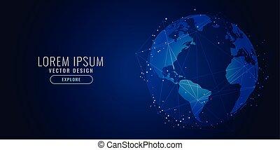 global technology concept digital science background design