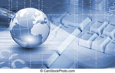 global, tecnologia, imagem