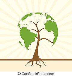 global, träd