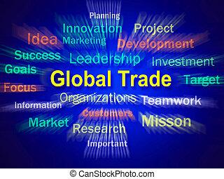 Global Trade Brainstorm Displays Planning For International Comm