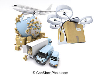global transportation with drone
