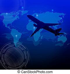 Global transportations and logistics concept