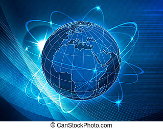 global, transporte, y, comunicaciones, plano de fondo