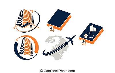 Global Traveling Travel Around World Set