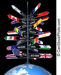 global, turism, affär
