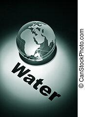 global, vatten, kris