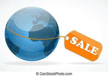global, vente étiquette