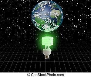 global, vert, idée
