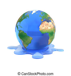 global warming 3d concept