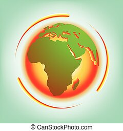 Global warming abstract vector