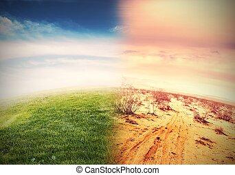 Alteration of natural environment and global warming