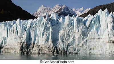 Global warming and climate change concept with melting glacier
