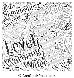Global Warming and the Significance of Rising Water Temperatures Word Cloud Concept