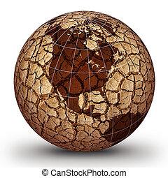 Global warming concept design. Global warming