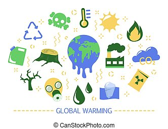 Global warming concept. Idea of climate change