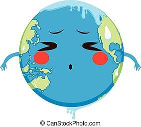 Global Warming Concept Melting