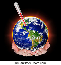 Global warming - Concept of global warming threat.