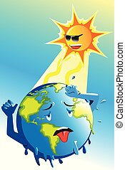 Global Warming Conceptual Illustration