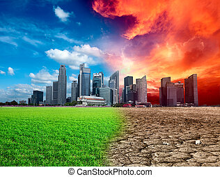 Global warming effect in city
