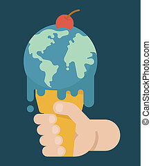 Global Warming , eps10 vector format