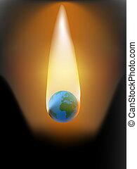 global warming fire flames destruction