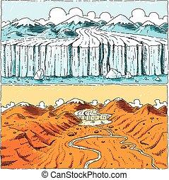 Global Warming Glacier