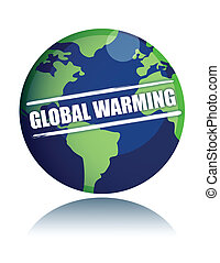 global warming globe with sign