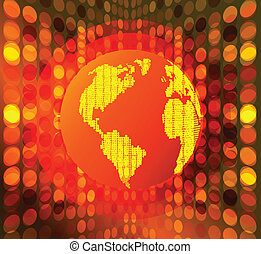 Global warming hot globe concept vector abstract background