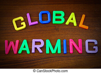 Global warming in toy letters