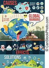 Global Warming Infographics Illustration