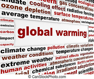 Global warming message concept