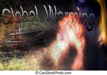 global warming sign or symbol design
