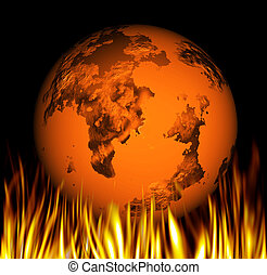 Global warming - Conceptual image depicting global warming