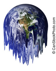 Global Warming - The Earth melting