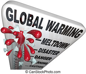 Global Warming Thermometer Shows Rise in World Temperatures