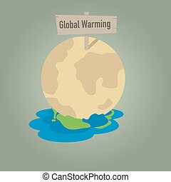 Global warming with earth dissolution