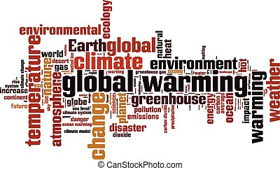 Global warming word cloud concept. Vector illustration