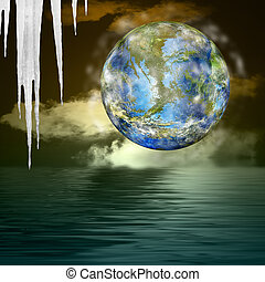 Global warming.Ecology concept