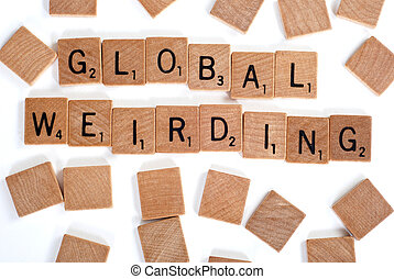 Global Weirding words with tiles