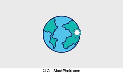 global, welt, zeiger, landkarte, ort