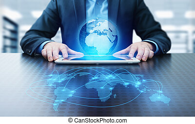 Global World Communication Connection Business Network...